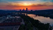 Pittsburgh Skyline Sunset