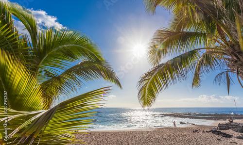 plage de Boucan Canot, île de la Réunion  - fototapety na wymiar
