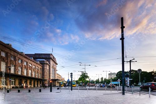 MULHOUSE,FRANCE - Jun 16, 2017: Main train station in Mulhouse, France