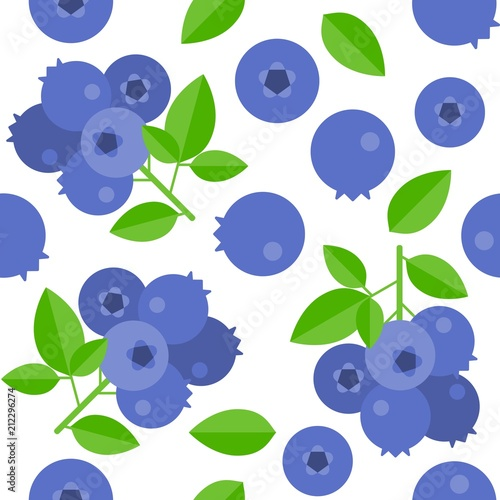 Fotografía blueberries seamless pattern for wallpaper or wrapping paper