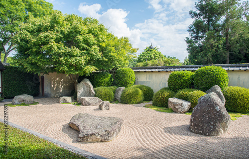 Foto op Aluminium Stenen in het Zand Japanese Garden of Contemplation in Hamilton gardens an iconic famous place in Hamilton, New Zealand.