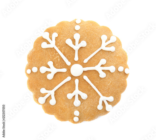 Tasty Homemade Christmas Cookie On White Background Buy This Stock
