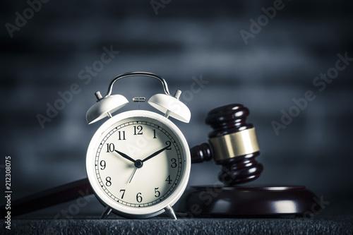 Fotografie, Tablou ハンマーと時計