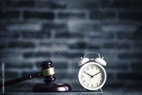 Vászonkép ハンマーと時計