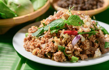Spicy Minced Pork, Local Thai ...