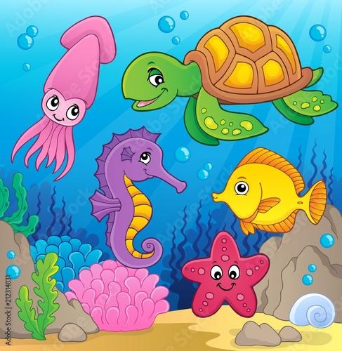 In de dag Voor kinderen Sea life theme image 1