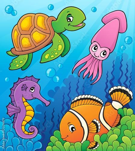 In de dag Voor kinderen Sea life theme image 3