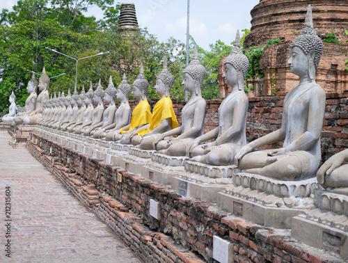 Photo Wat Yai Chai Mongkol historic site of Ayuthaya province