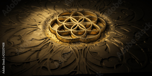 Blume des Lebens Tablou Canvas