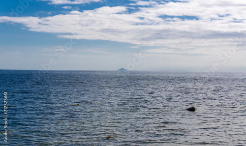 Photo Blue Sea & Ailsa Craig in the Distance Scotland