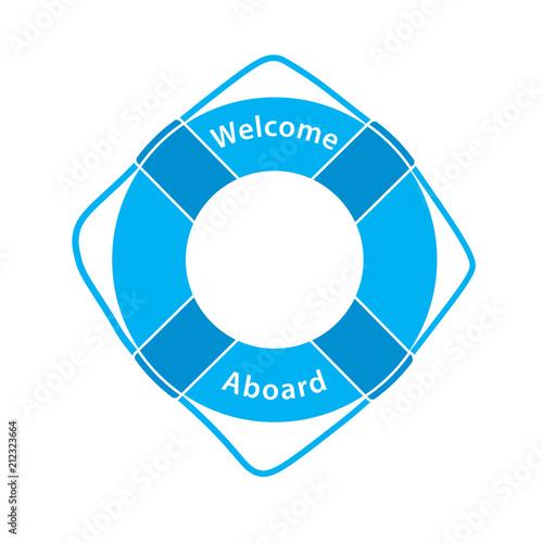 Fotografie, Obraz  Welcome Aboard - Lifebuoy