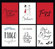 Set Of Tango Cards Templates W...