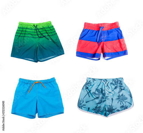 Fotografía  Collage of different shorts for boys