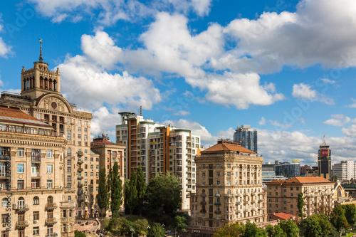Foto op Plexiglas Kiev KIEV - UKRAINE - Juluy 2018. View to kreshyatik street from top of CUM mall.