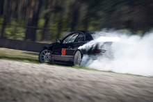 Sport Car Wheel Drifting. Blur...