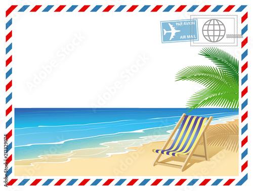 Ferien am Meer mit Liegestuhl #212329074