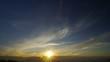 日の入りと雲(高ボッチ高原にて)