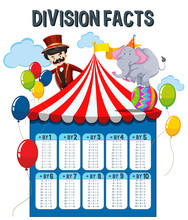 A Math Division Facts Circus T...