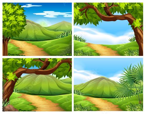 Papiers peints Vert chaux A Set of Beautiful Landscape