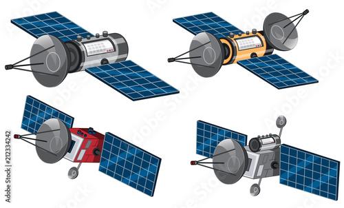 Photo Set of space satellite