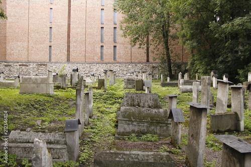 Spoed Foto op Canvas Begraafplaats Cracovie - Cimetière Juif
