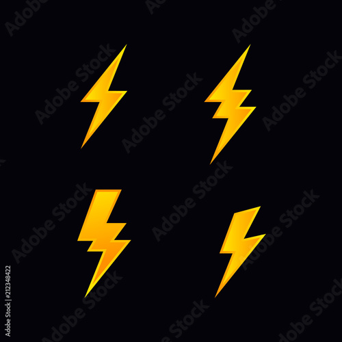Obraz lightning bolt flash vector - fototapety do salonu