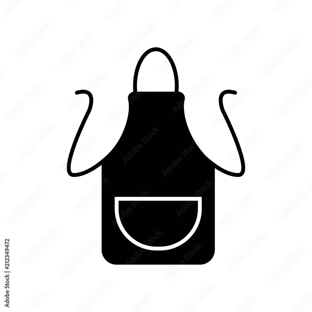 Fototapeta Apron icon vector icon. Simple element illustration. Apron symbol design. Can be used for web and mobile.