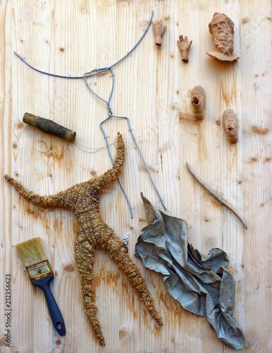 parts af a handcrafted figure