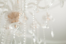 Chrystal Chandelier Close-up. Glamour Background