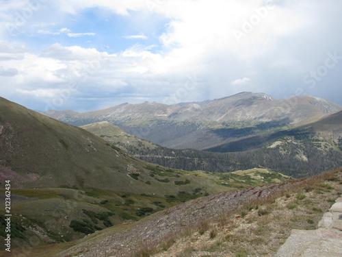 Deurstickers Grijs Mountain landscape