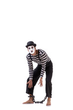 Mime With His Feet Chained Iso...