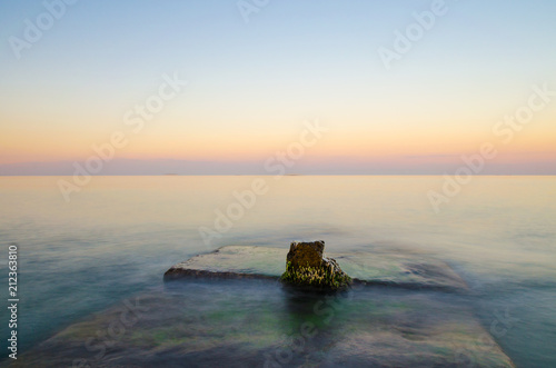 Photographie  Seascape during the sunset in the Odesa of Ukraine