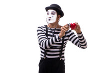 Mime With Stethoscope Isolated...