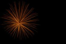 Bright Orange Chrysanthemum Firework