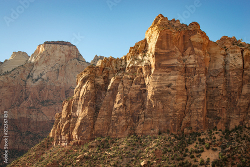 Spoed Foto op Canvas Diepbruine The Sentinel, Zion National Park