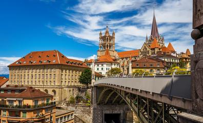 View of downtown Lausaunne - Switzerland