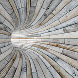 Wood textured tunnel