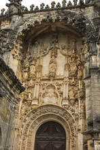 Sculpture Of The Virgin And Child Above The Entrance Of The Round Templar Church Of The Convent Of Christ, Tomar