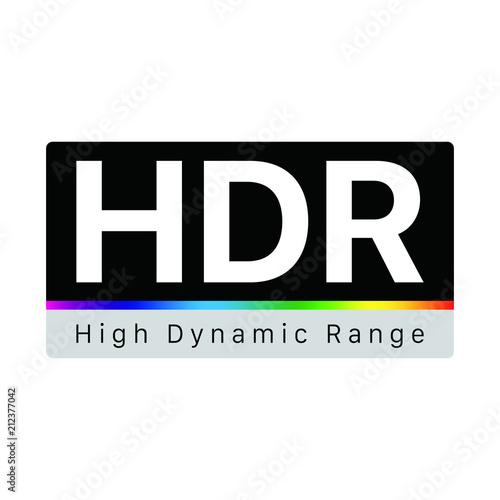 HDR - High Dynamic Range Symbol Wallpaper Mural