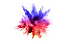 Abstract Powder Splatted Backg...