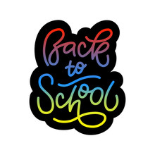 Back To School Typography Lettering