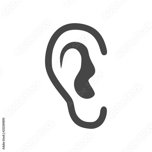 Human ear icon Fototapet