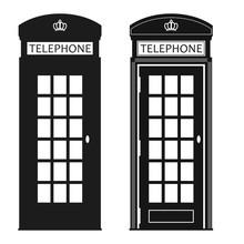 London Street Phone Booth Vector