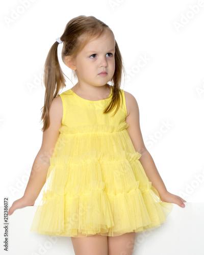 Fototapeta Sad little girl obraz