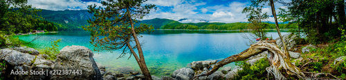 Photo Stands Lake Eibsee - Germany