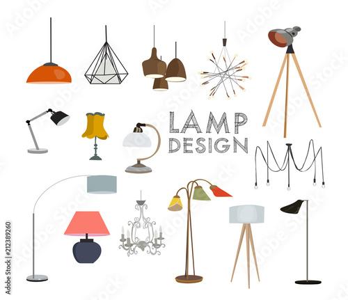 Photo vector lighting lamp illustration