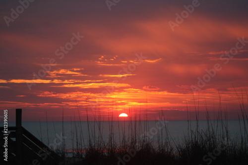 In de dag Ochtendgloren Beautiful Sunset on the Sea