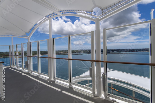 Foto op Canvas Brussel Sea view from cruise ship sailing