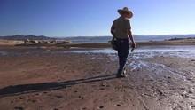 Folsom Lake , Cowboy Walking