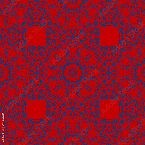 Fotografie, Obraz  Abstract repeat backdrop with lace floral ornament